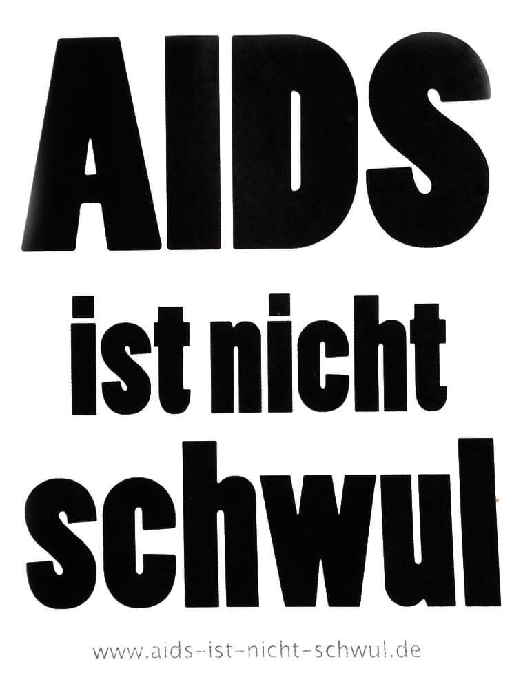 Aids ist nicht schwul