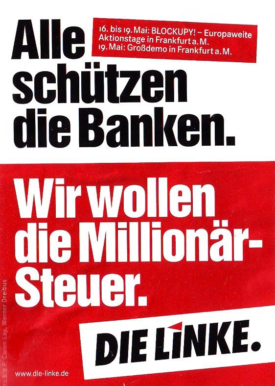 Alle schützen die Banken.