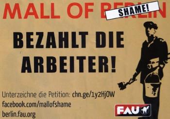 Mall of Berlin-Bezahlt die Arbeiter!