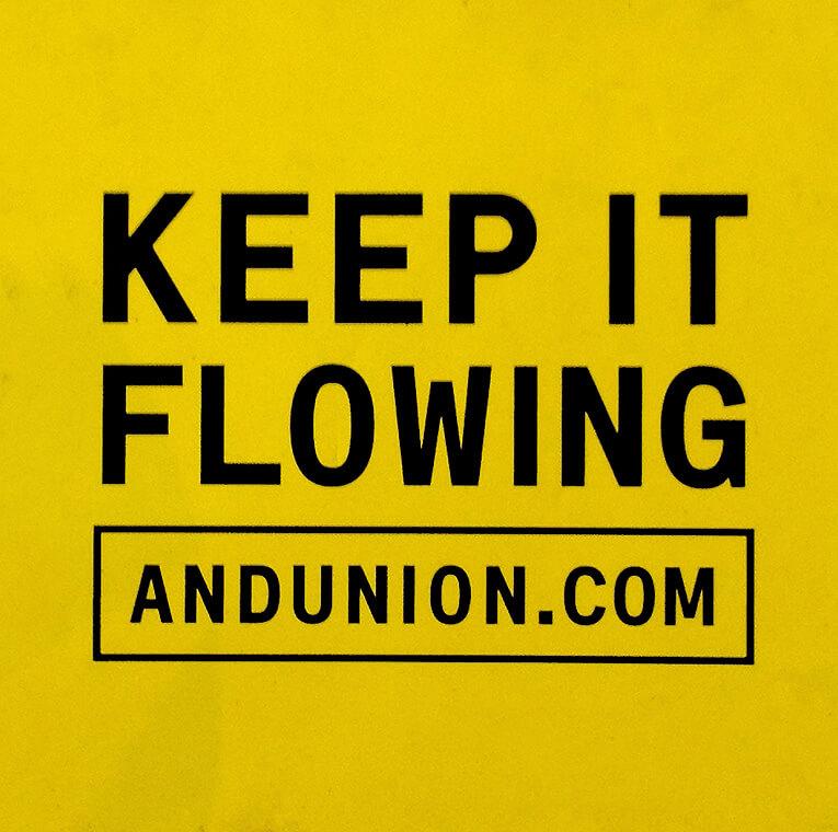 Keep it flowing