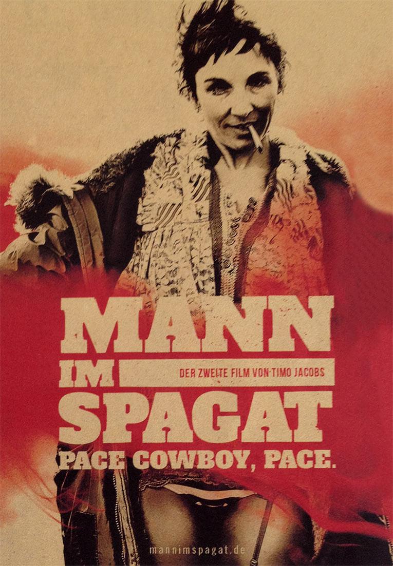 Mann im Spagat